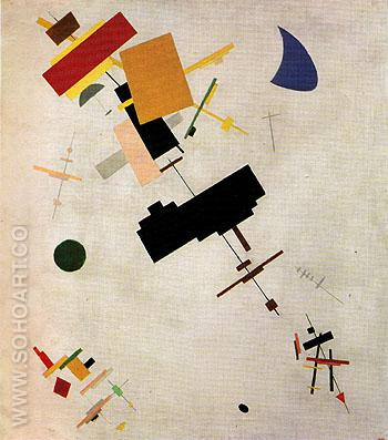 Supremus No 56 1916 - Kasimir Malevich reproduction oil painting