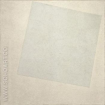 Suprematist Composition White on White 1918 - Kasimir Malevich reproduction oil painting