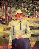 Unemployed Girl 1904 - Kasimir Malevich reproduction oil painting