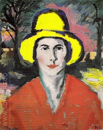Woman in a Yellow Hat 1908 - Kasimir Malevich reproduction oil painting