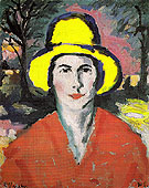 Woman in a Yellow Hat 1908 - Kasimir Malevich
