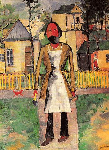Carpenter 1927 - Kasimir Malevich reproduction oil painting
