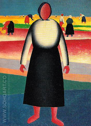 The Harvest 1928 - Kasimir Malevich reproduction oil painting