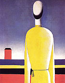 Complex Premonition Bust in a Yellow Shirt c1928 - Kasimir Malevich reproduction oil painting