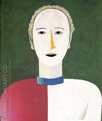 Portrait of a Woman c1928 - Kasimir Malevich reproduction oil painting