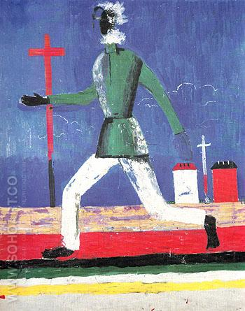 Running Man c1932 - Kasimir Malevich reproduction oil painting