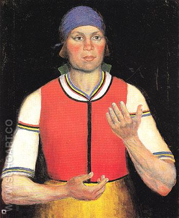 The Worker 1933 - Kasimir Malevich reproduction oil painting