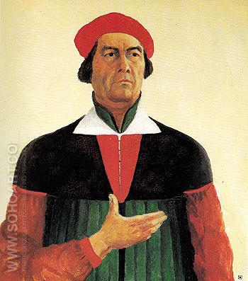 Self portrait 1933 - Kasimir Malevich reproduction oil painting