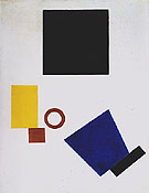 Self Portrait in Two Dimensions 1915 - Kasimir Malevich reproduction oil painting
