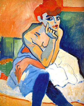 Woman with Blouse 1907 - Andre Derain reproduction oil painting