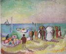 The Beach at Sainte Adresse 1906 - Raoul Dufy