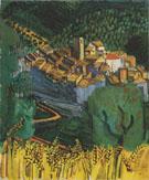 Sainte Paul de Vence 1920 - Raoul Dufy