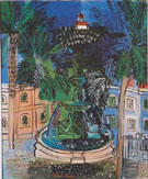 The Fontaine a Hyeres c1927 - Raoul Dufy