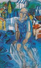 La Grande Baigneuse 1950 - Raoul Dufy