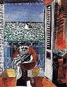 View Through a Window Nice c1920 - Raoul Dufy