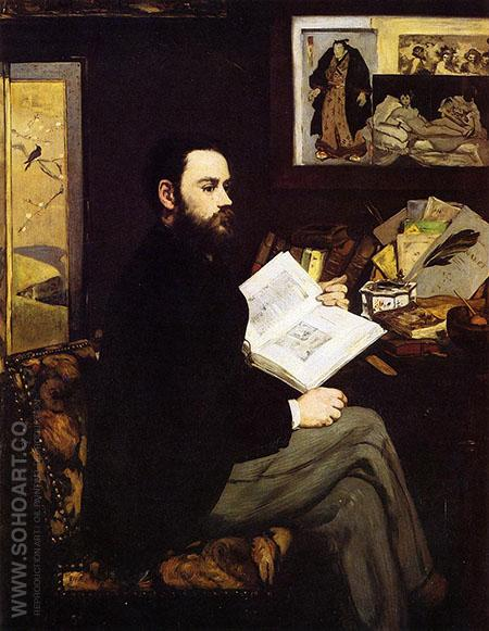 Portrait of Emile Zola 1868 - Edouard Manet reproduction oil painting
