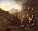 Landscape with Tree Trunks 1828 - Thomas Cole reproduction oil painting