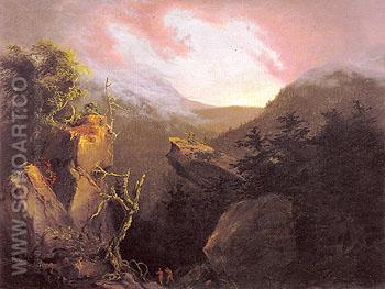 Mountain Sunrise Catskill 1826 - Thomas Cole reproduction oil painting