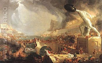 The Course of Empire Destruction 1836 - Thomas Cole reproduction oil painting