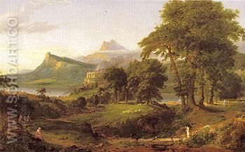 The Pastoral or Arcadian State 1834 - Thomas Cole reproduction oil painting