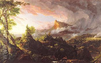 The Savage State 1836 - Thomas Cole reproduction oil painting