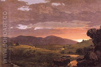 Twilight Short Arbiter Twixt Day and Night 1850 - Frederic E Church reproduction oil painting