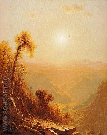Mount Mansfield 1858 - Sandford Robinson Gifford reproduction oil painting