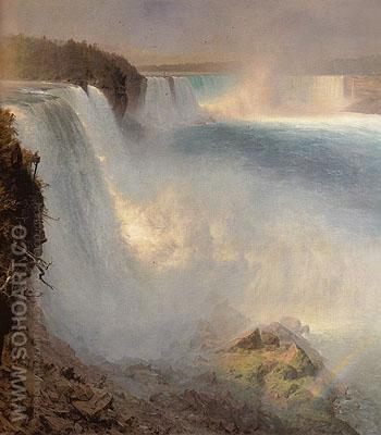 Niagara Falls from the American Side 1867 - Frederic E Church reproduction oil painting