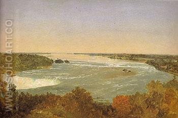 Niagara Falls and the Rapids c1851 - John Frederick Kensett reproduction oil painting