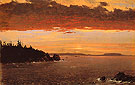 Schoodic Peninsula from Mount Desert Sunrise c1850 - Frederic E Church reproduction oil painting