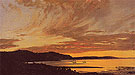 Sunset Bar Harbor 1854 - Frederic E Church reproduction oil painting