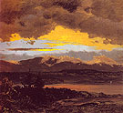 Sunset across the Hudson Valley 1870 - Frederic E Church