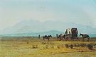 Surveyors Wagon in the Rockies c1859 - Albert Bierstadt reproduction oil painting