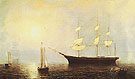 Starlight in Fog 1860 - Fitz Hugh Lane reproduction oil painting