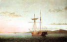 Lumber Schooners at Evening on Penobscot Bay 1863 - Fitz Hugh Lane reproduction oil painting