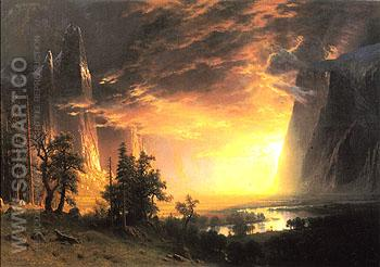 Yosemite Valley 1868 - Albert Bierstadt reproduction oil painting