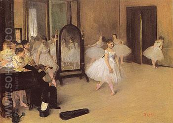 The Dancing Class c1871 - Edgar Degas reproduction oil painting