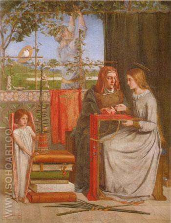 The Girlhood of Mary Virgin 1849 - Dante Gabriel Rossetti reproduction oil painting