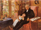 James Wyatt and his Granddaughter Mary 1849 - John Everett Millais reproduction oil painting
