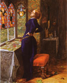 Mariana 1851 - John Everett Millais reproduction oil painting