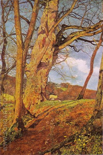 In Early Spring 1855 - John Inchbold reproduction oil painting