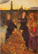 Autumn Leaves c1855 - John Everett Millais