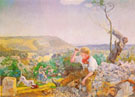 The Stonebreaker c1857 - John Brett reproduction oil painting