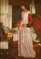 Queen Guenevere 1858 - William Morris reproduction oil painting