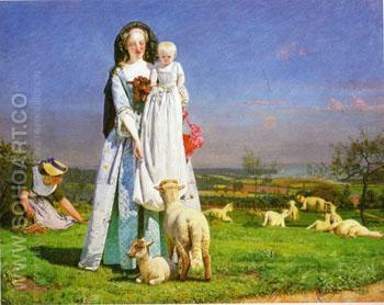 Pretty Baa lambs c1851 - Ford Madox Brown reproduction oil painting