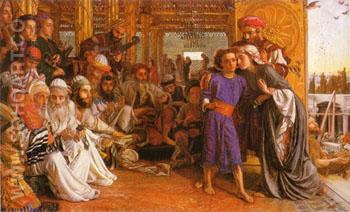 The Finding of the Saviour in the Temple c1854 - William Holman Hunt reproduction oil painting