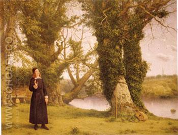 George Herbert at Bemerton 1861 - William Dyce reproduction oil painting