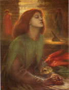Beata Beatrix 1863 - Dante Gabriel Rossetti reproduction oil painting