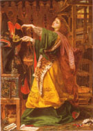 Morgan le Fay 1864 - Frederick Sandys reproduction oil painting