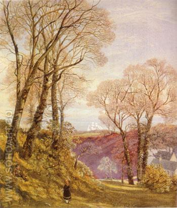 February in the Isle of Wight 1866 - John Brett reproduction oil painting